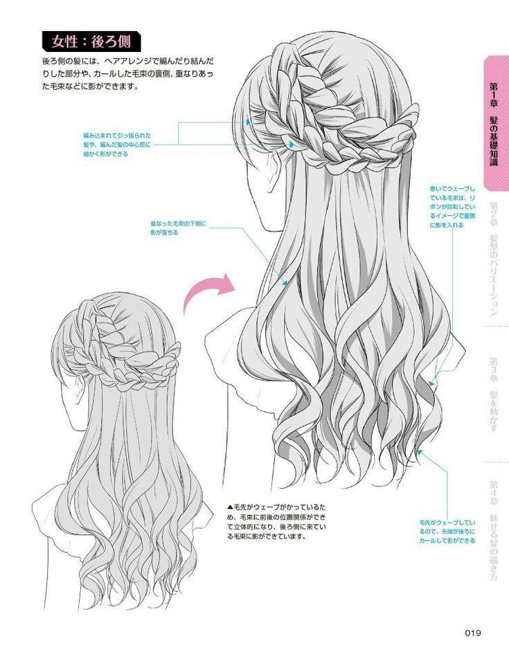 Photo of チュートリアルを描く髪のバック#三つ編み