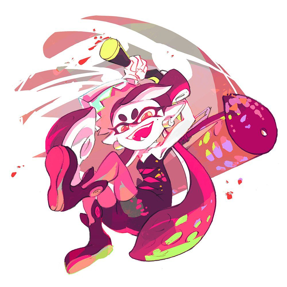 0102e3ee5a699 The face of a inkling who is just about to splat you.... Lol!  splatoon   squidsisters  callie  marie  splatfest