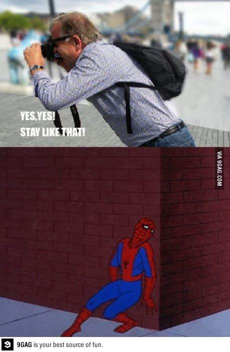 Hahaa Funny Pictures Spiderman Spiderman Meme