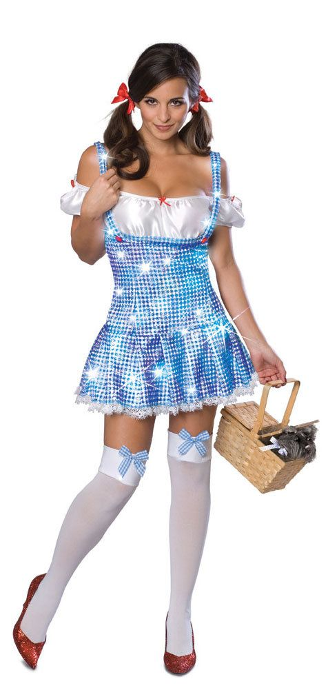 Sexy Light Up Dorothy Wizard of Oz Costume Wizard of Oz Costumes ...
