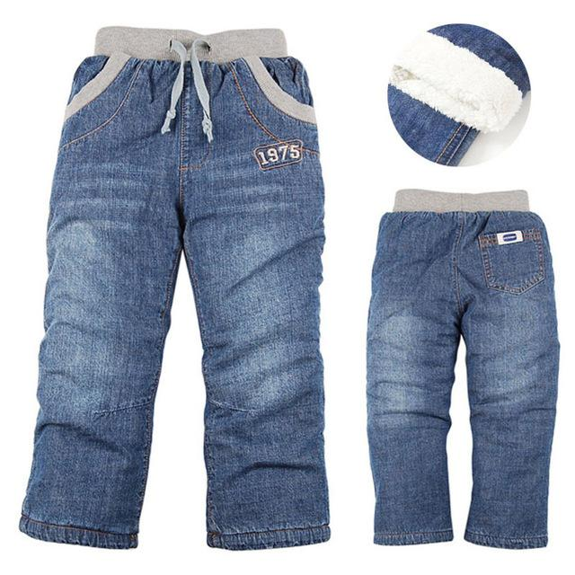 d15fa7e07 High quality Winter Thick Children Boys Jeans Kids Trousers Girls Baby  Children Pants
