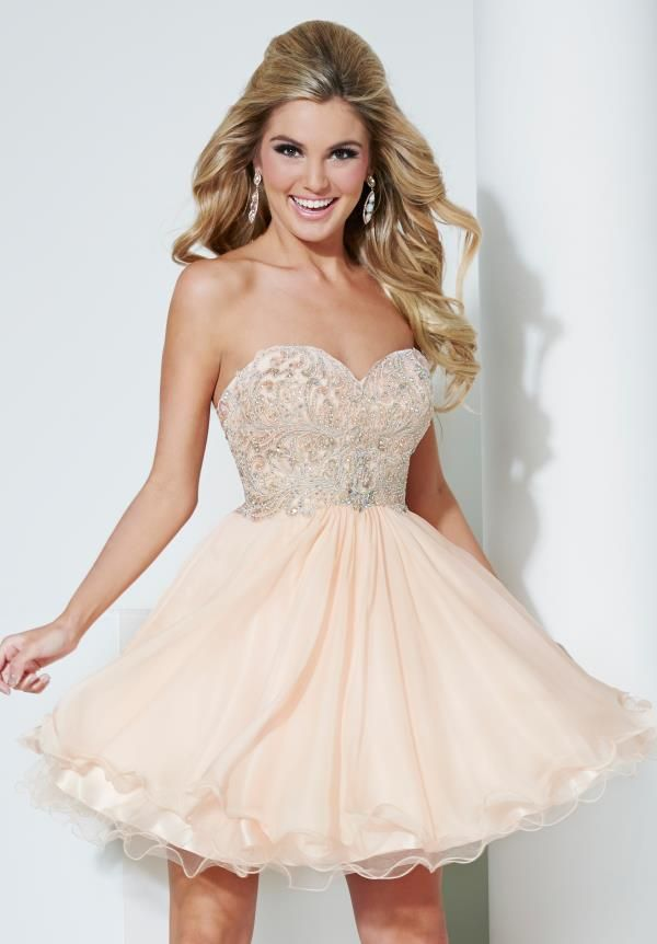 champagne colored short prom dresses