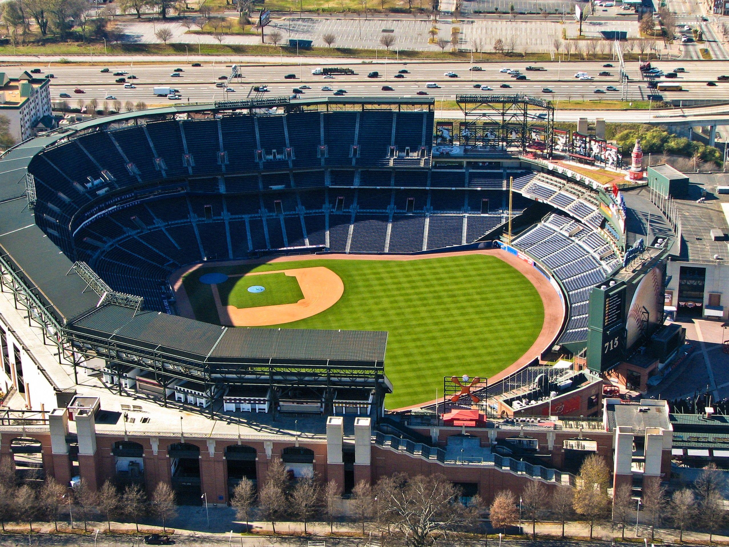 Turner Field Atlanta Ga Baseball Park Baseball Stadium Stadium