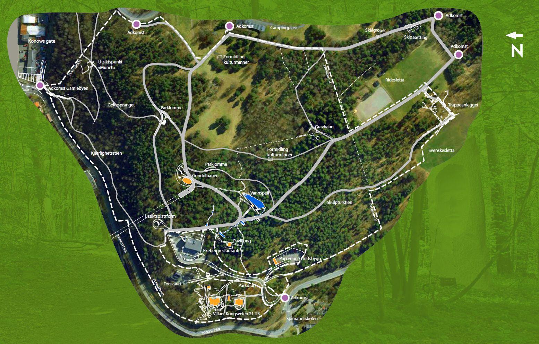 ekeberg kart kart over parken. 1,554×992 像素 | Amazing Project | Pinterest ekeberg kart