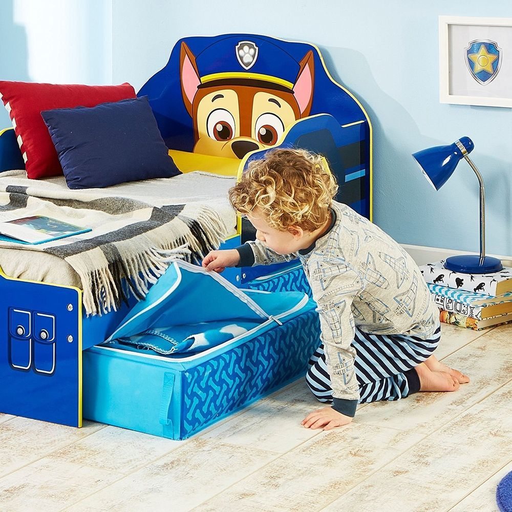 Paw Patrol Chase Toddler Bed With Underbed Storage Kids Drawers Blue Sleep FREE  sc 1 st  Pinterest & Paw Patrol Chase Toddler Bed With Underbed Storage Kids Drawers Blue ...