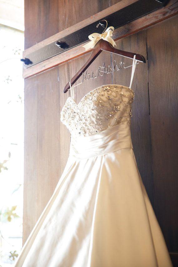 Wedding Dress Hanger Bridal Shower Gift Bride Keepsake Gift For Her Custom Hanger Wire Wedding Dress Hanger Wedding Gown Hangers Wedding Hanger Bride