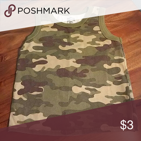 Garanimals Camo Tee A bit faded but still adorable for your little man! Shirts & Tops Tank Tops