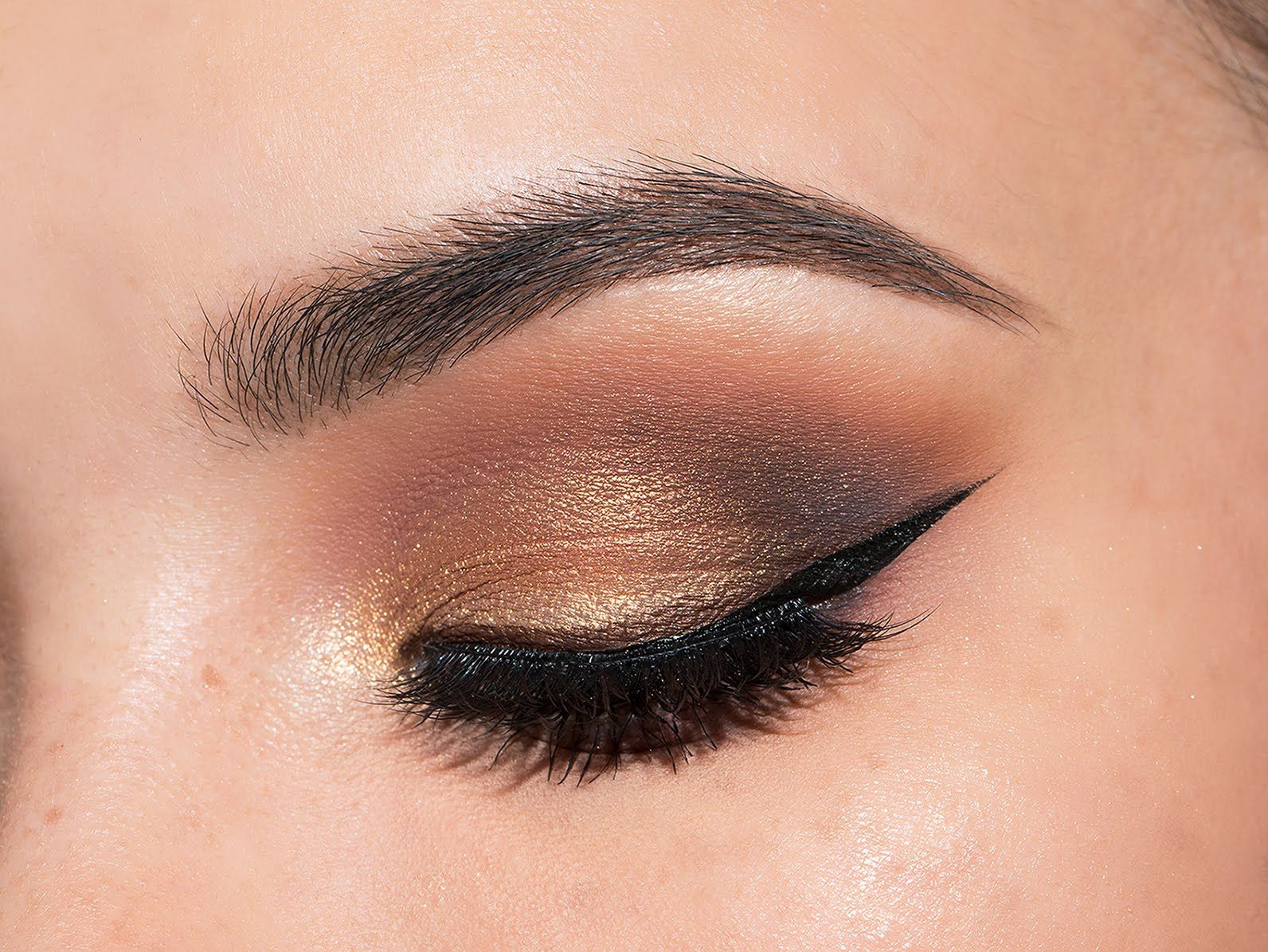 Gold Smokey Eye Makeup Tutorial Eyes Eyes Eyes Pinterest