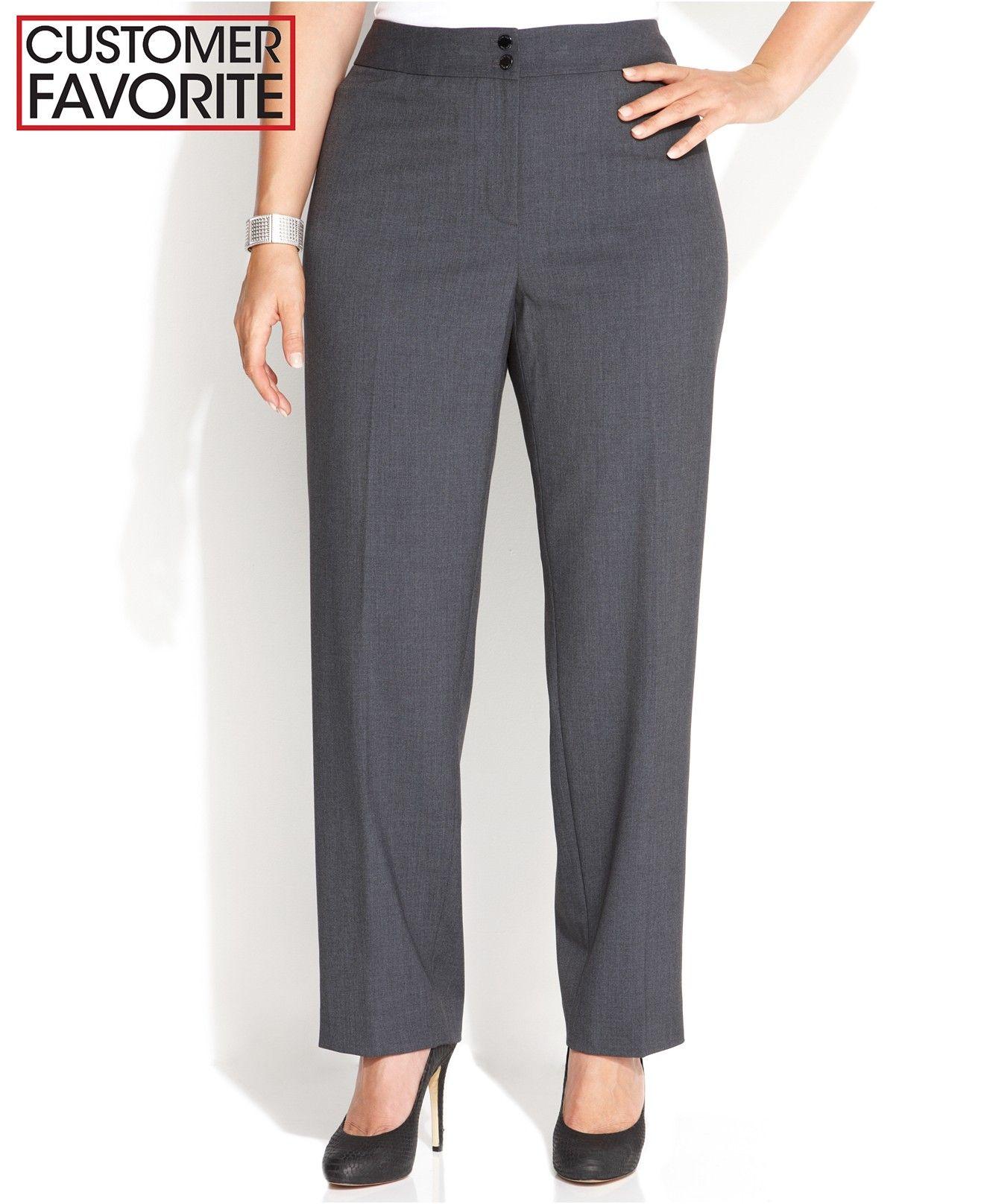 Calvin Klein Plus Size Wide Leg Dress Pants Dress Pants Wide Legs