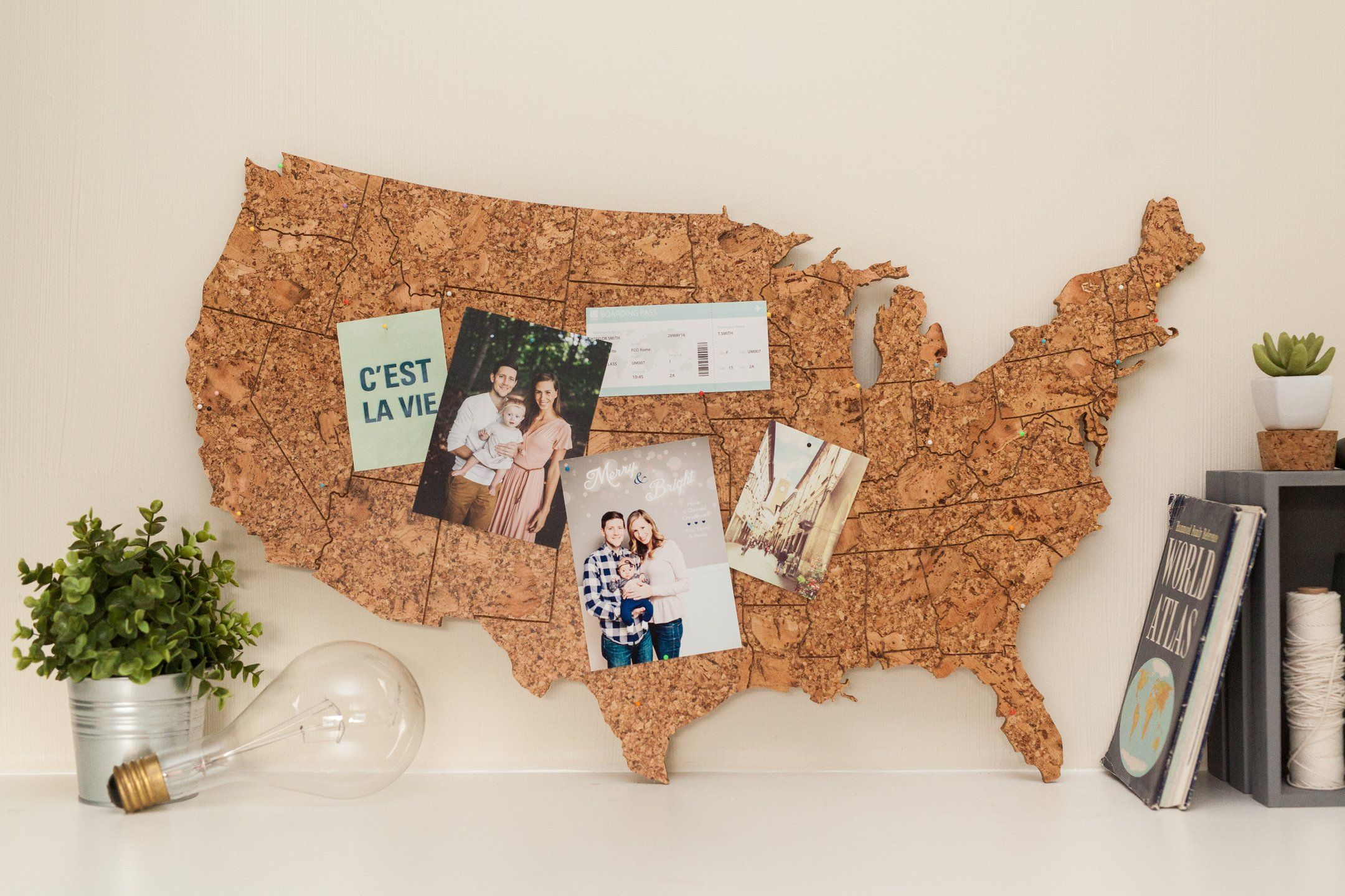 Large Cork Map of the United States Cork map Cork and United states