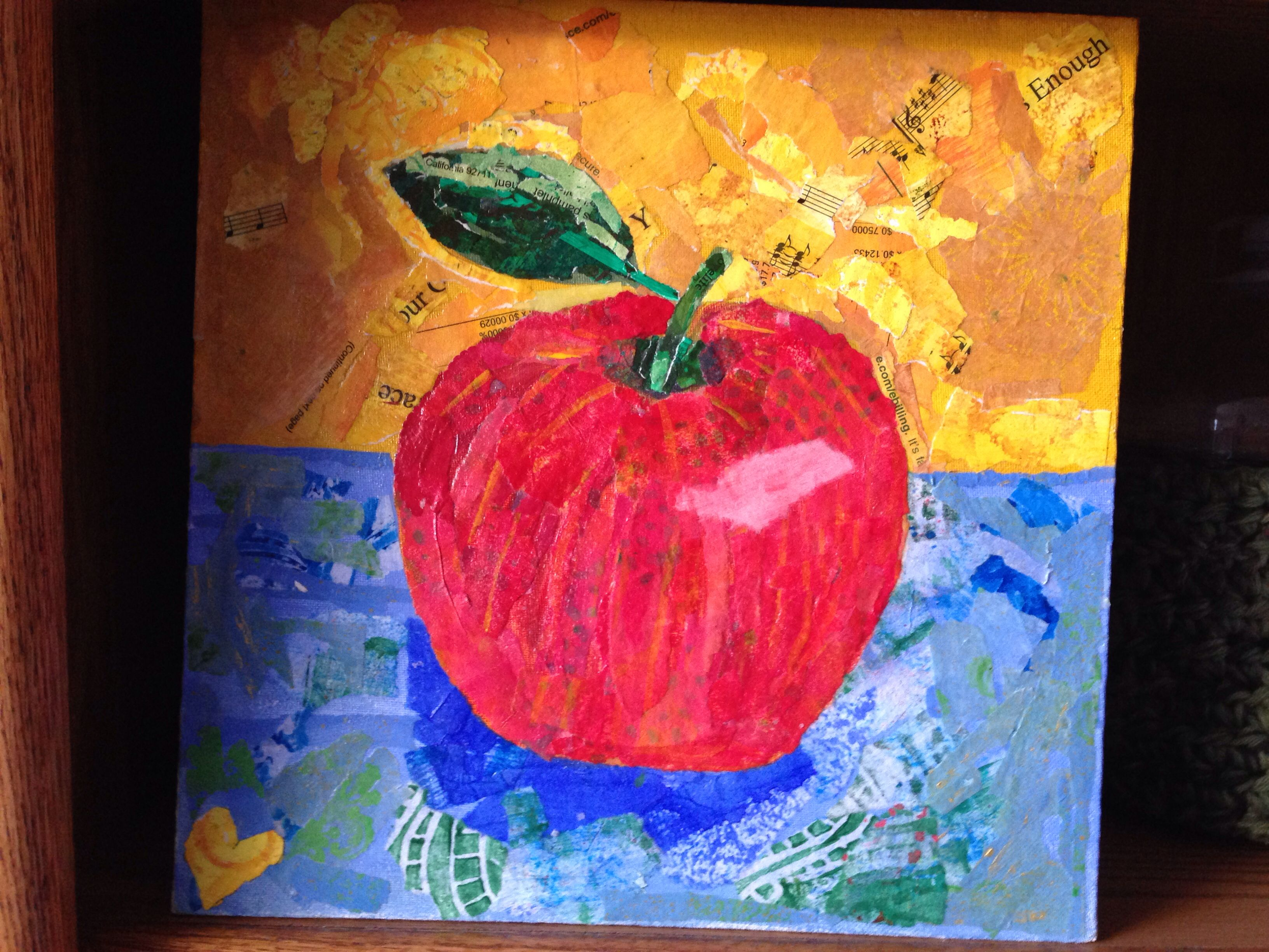 My first Apple Paper Painting Collage. It was really fun