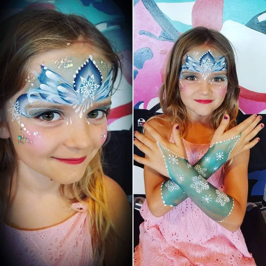 Maria S Face Painting On Instagram Because Frozen 2 Is Out And We Might See Lots Of Girls Asking For Elsa Elsa Face Painting Frozen Face Paint Face Painting