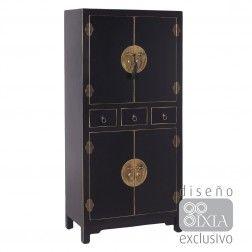 Mueble chino armario negro 4 puertas muebles orientales pinterest muebles chinos muebles - Muebles orientales madrid ...