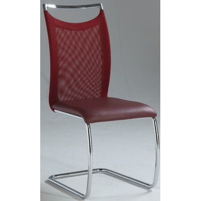 Wade Logan Kendrick Side Chair (Set of 2) Finish: Red