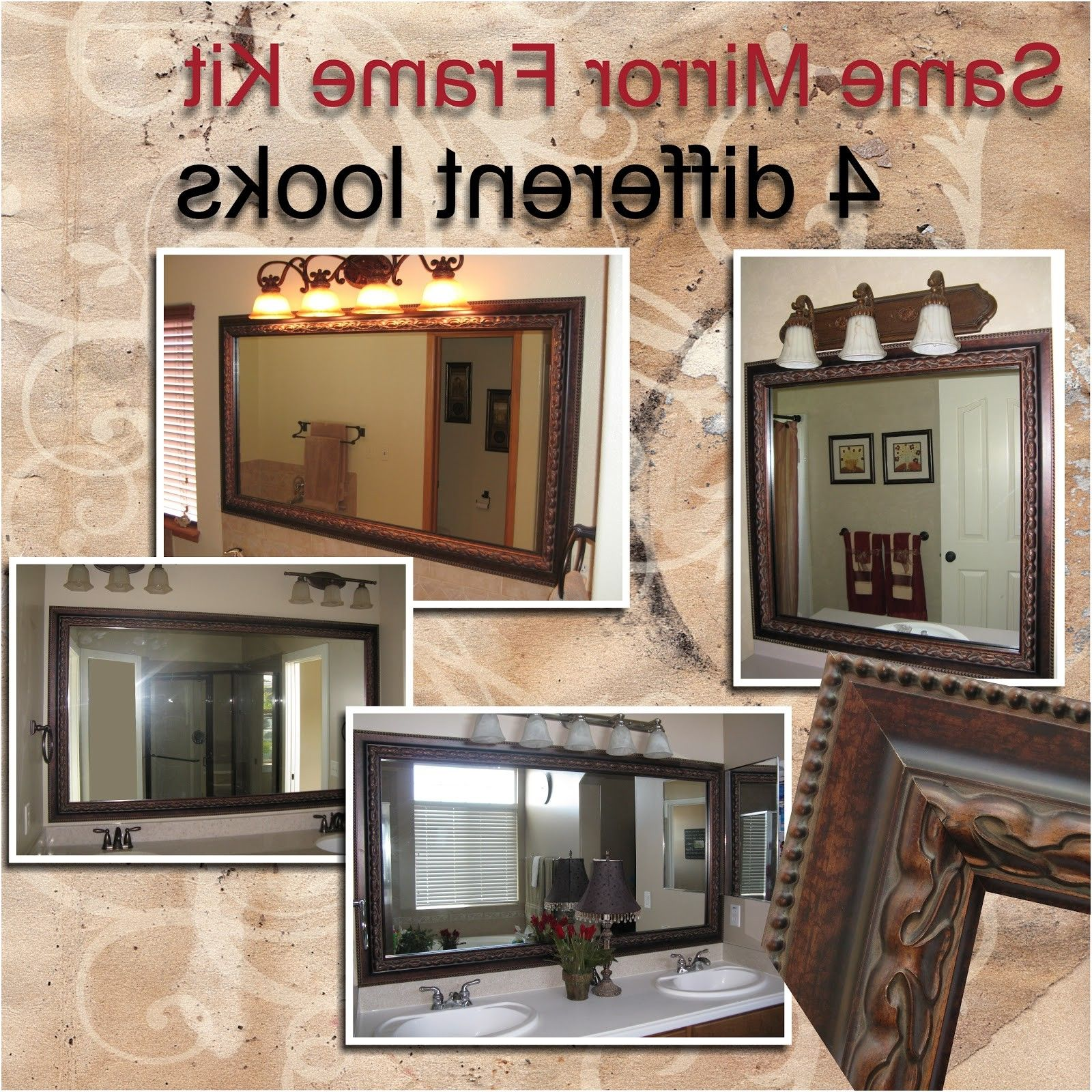 Reflected Design Same Mirror Frame Kit 4 Different Looks From