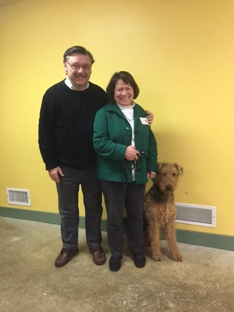Recent Dog Training Graduate Squire With Tom And Patti A From