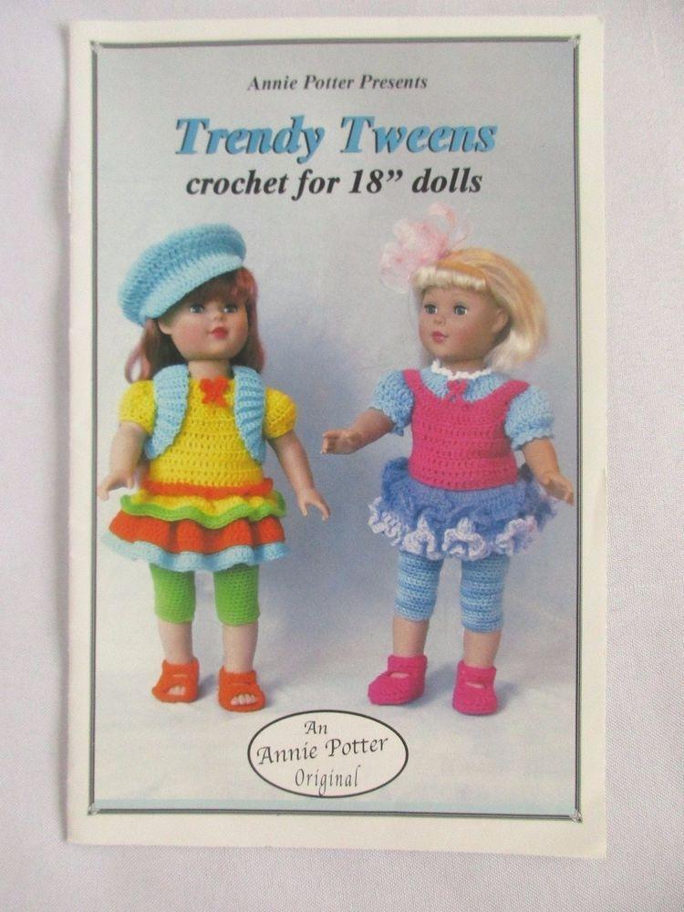 Crochet Trendy Tweens Annie Potter Original Presents Pattern For 18