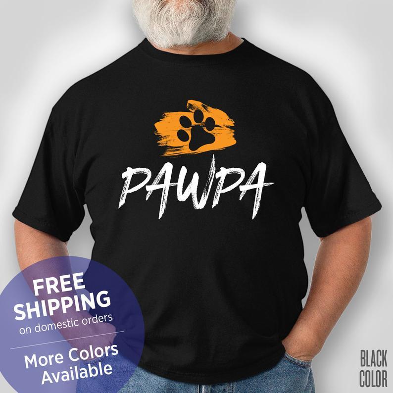 Pawpa Grandpa - Dog Grandpa - Fur Grandpa - Funny Shirt - Grandpa Birthday Gift - Grandpa Christmas Gift #grandpabirthdaygifts