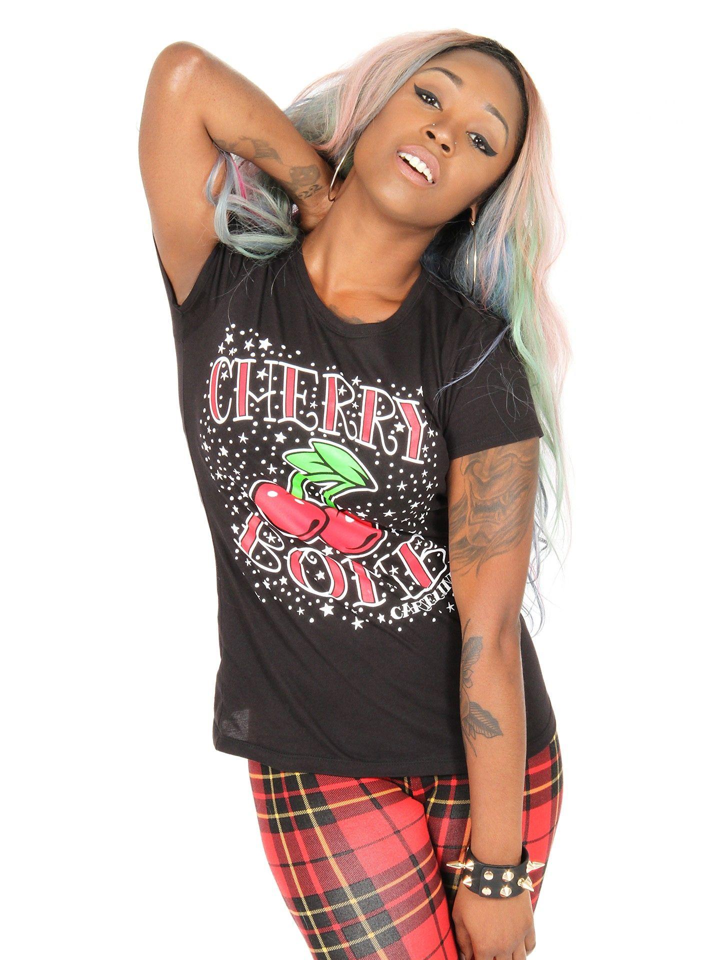 "Women's ""Cherry Bomb"" Tee by Cartel Ink (Black)"