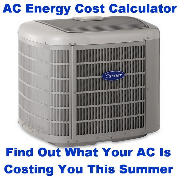 Ac Air Conditioning Unit Operating Energy Cost Calculator Hvac