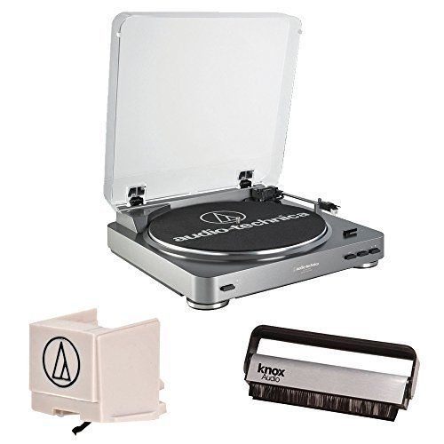 Audio Technica At Lp60 Fully Automatic Belt Driven Turntable With Extra Audio Technica Atn3600l Stylus And Knox V Stereo Turntable Usb Turntable Audio Technica