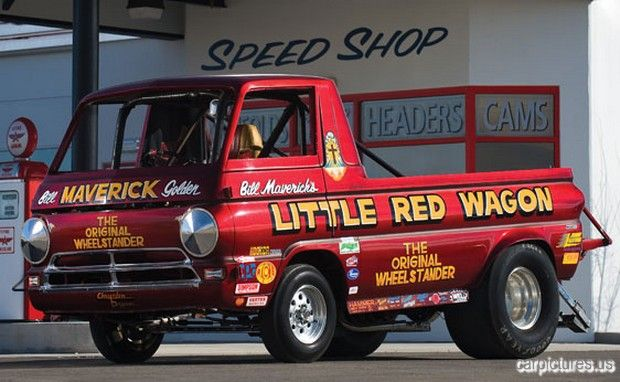 1965 Dodge A100 Pickup Truck Little Red Wagon Hobby Model