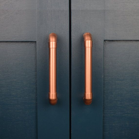 Kitchen Cabinet Doors Vancouver Bc: Modern Proper Copper Pull. Contemporary Drawer Handle