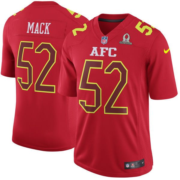 Men S Oakland Raiders 52 Khalil Mack 2017 Nfl All Star Jerseys Nfl Jerseys Bowl Game Nfl