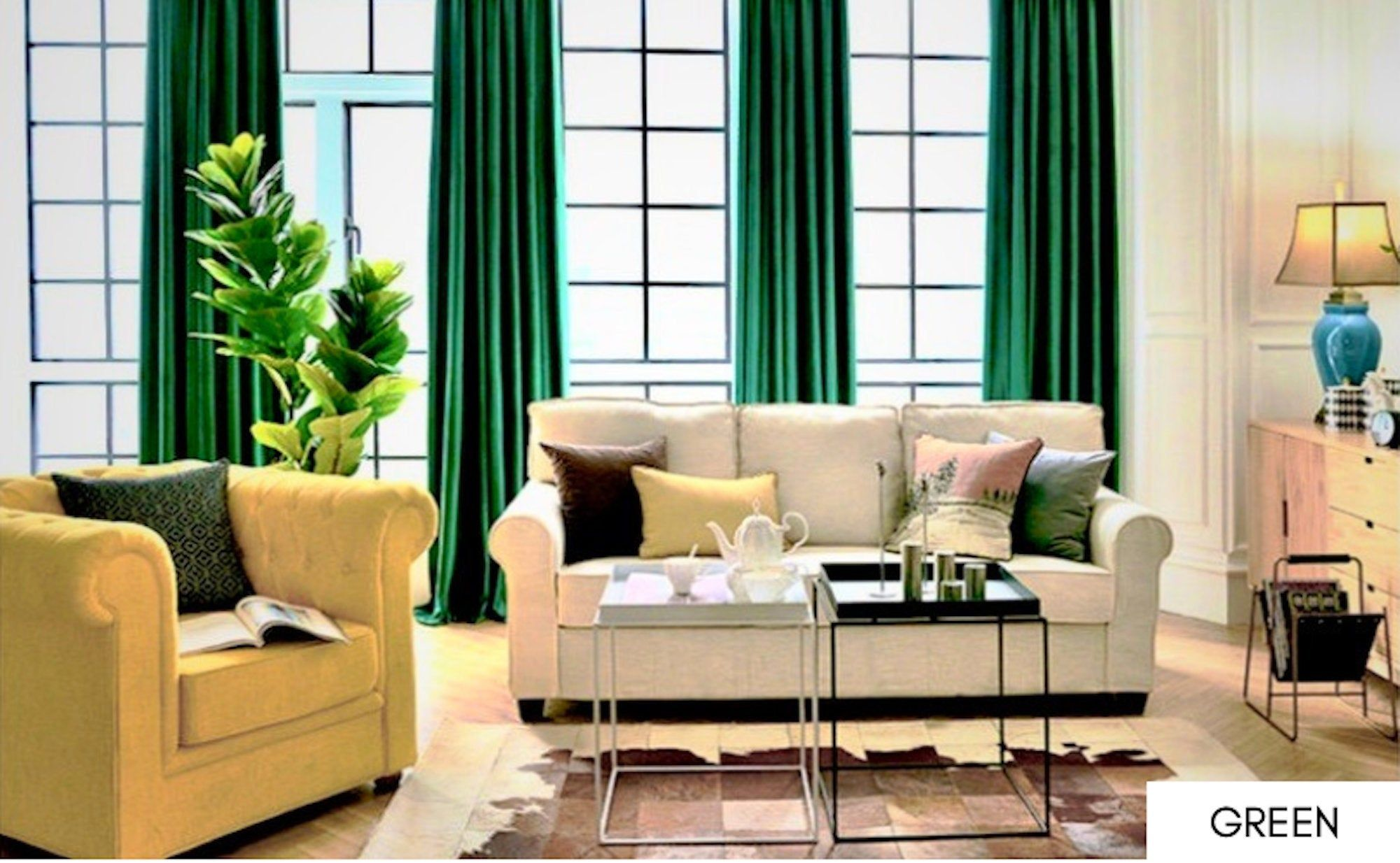 Pin On Pin Everything Group Board Green living room curtains