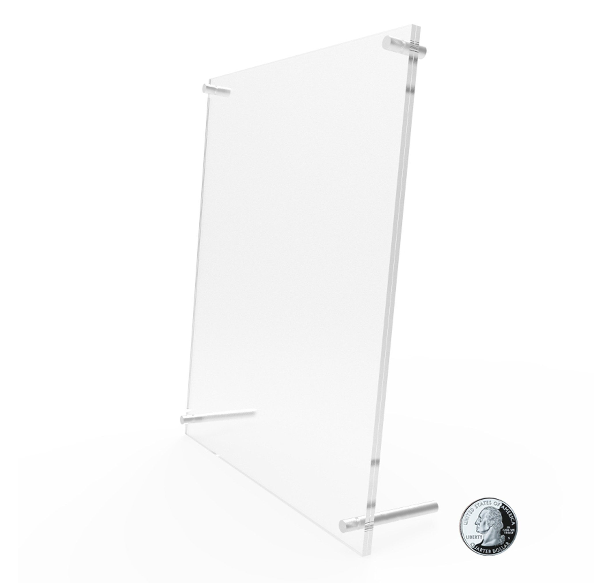 Acrylic Sign Holder Standoff Hardware Picture Frame Countertop