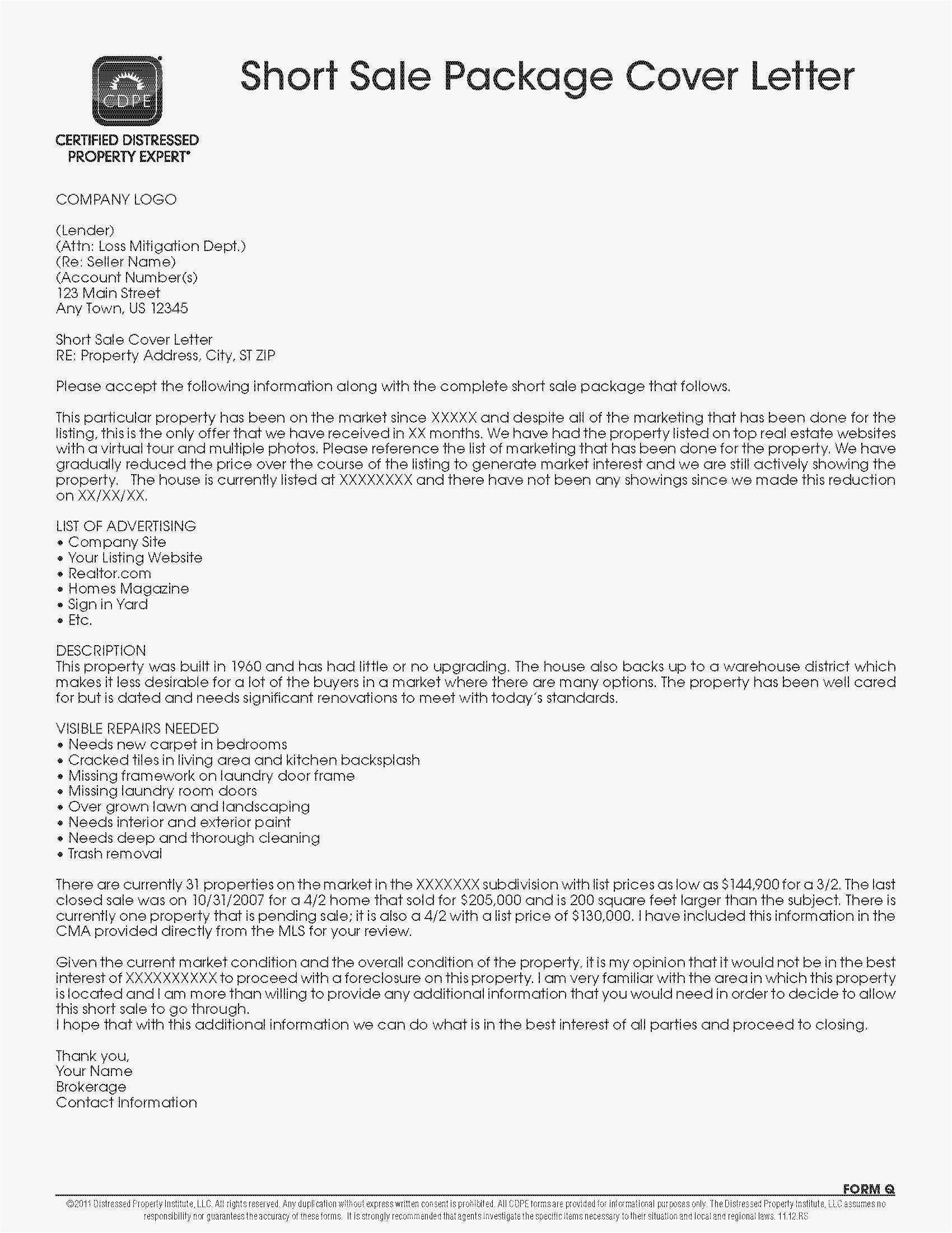 Statement Of Loss Sample in 2020 Cover letter template