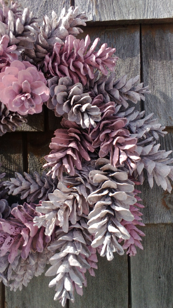 Pinecone Wreath - 12\'\' Pretty In Pink - Made to Order - Customize ...