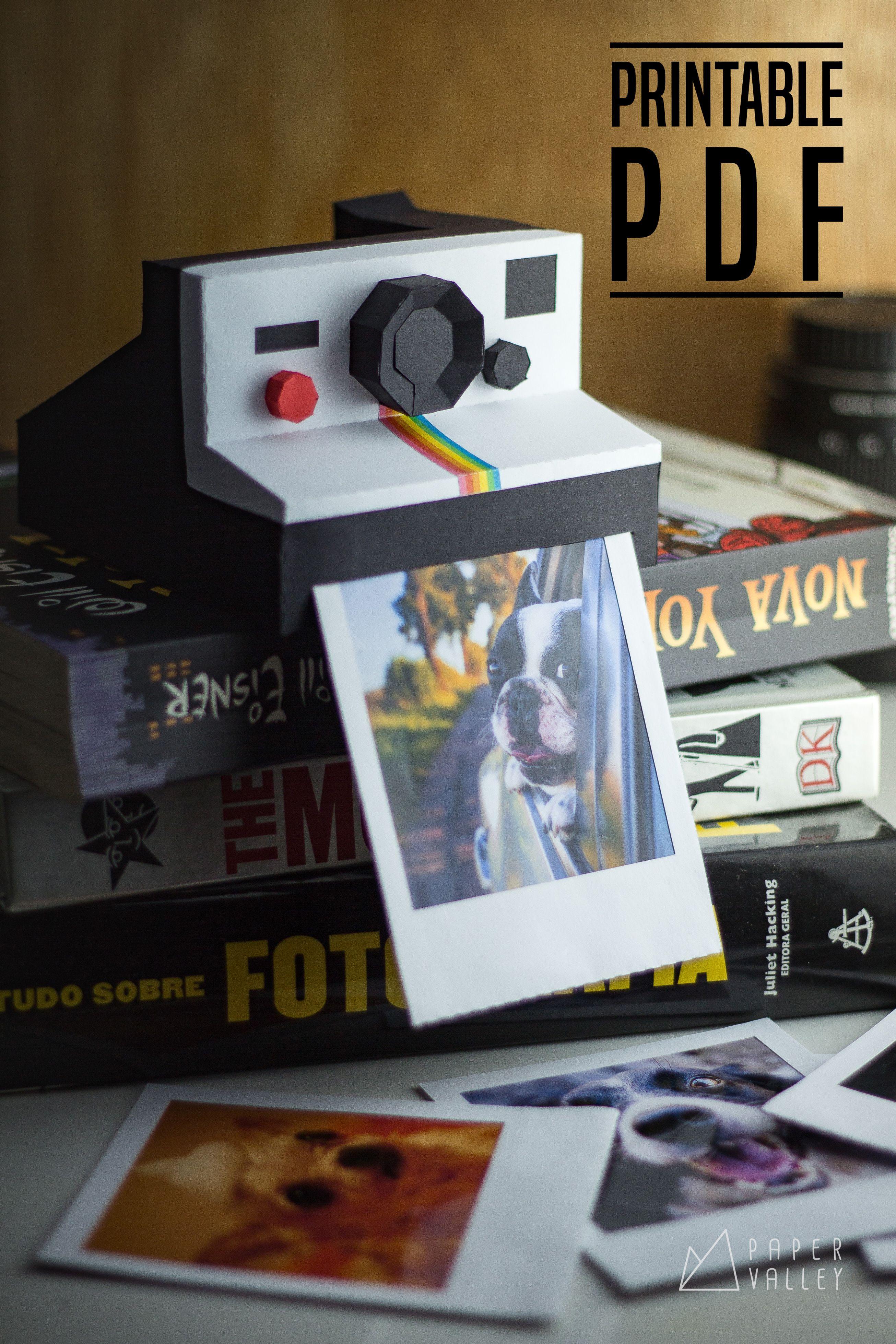 picture relating to Polaroid Camera Printable identify Polaroid papercraft Do it yourself, printable template PDF, common