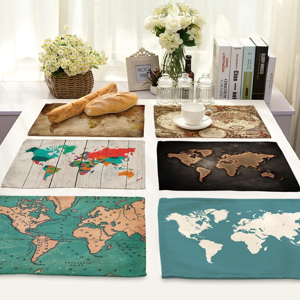 Placemats For Dining Table Map Design Placemats Ideas Perfect