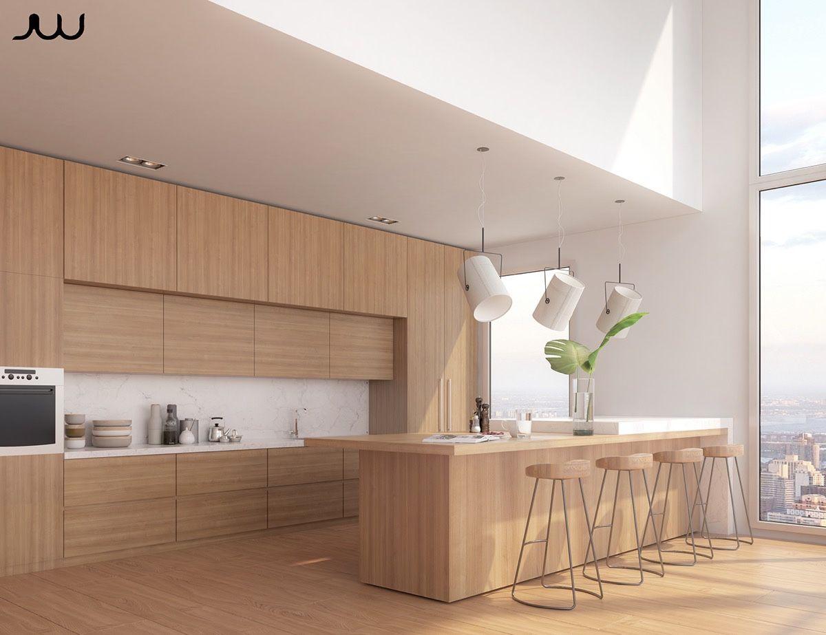 50 Modern Kitchen Designs That Use Unconventional Geometry Interior Design Kitchen Modern Kitchen Design Kitchen Interior