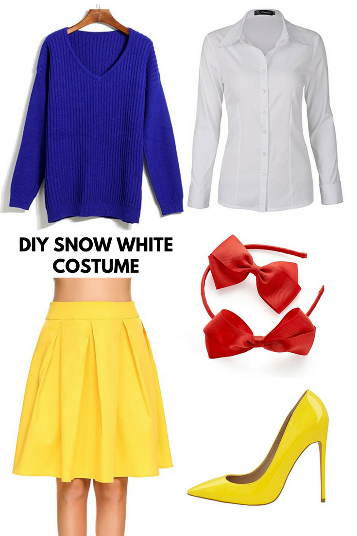DIY Snow White Costume - using thrifted and/or clothes in