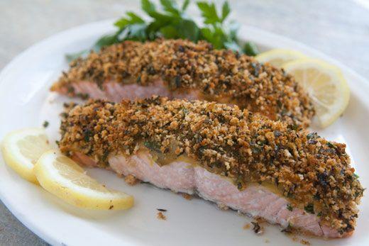 Salmon With Wasabi Breadcrumbs Salmonwithwasabi