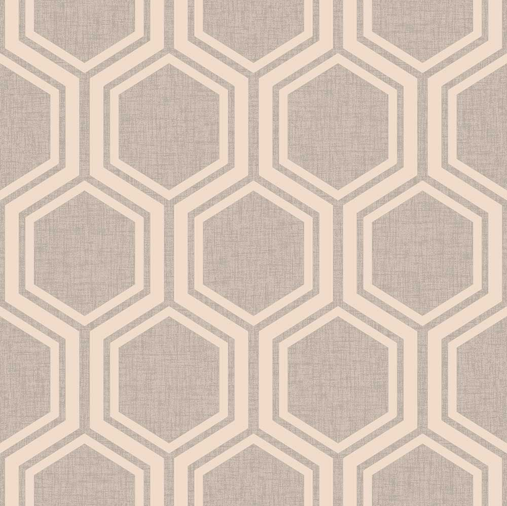 Arthouse Luxe Hexagon Dusky Rose Wallpaper Product Code 910205