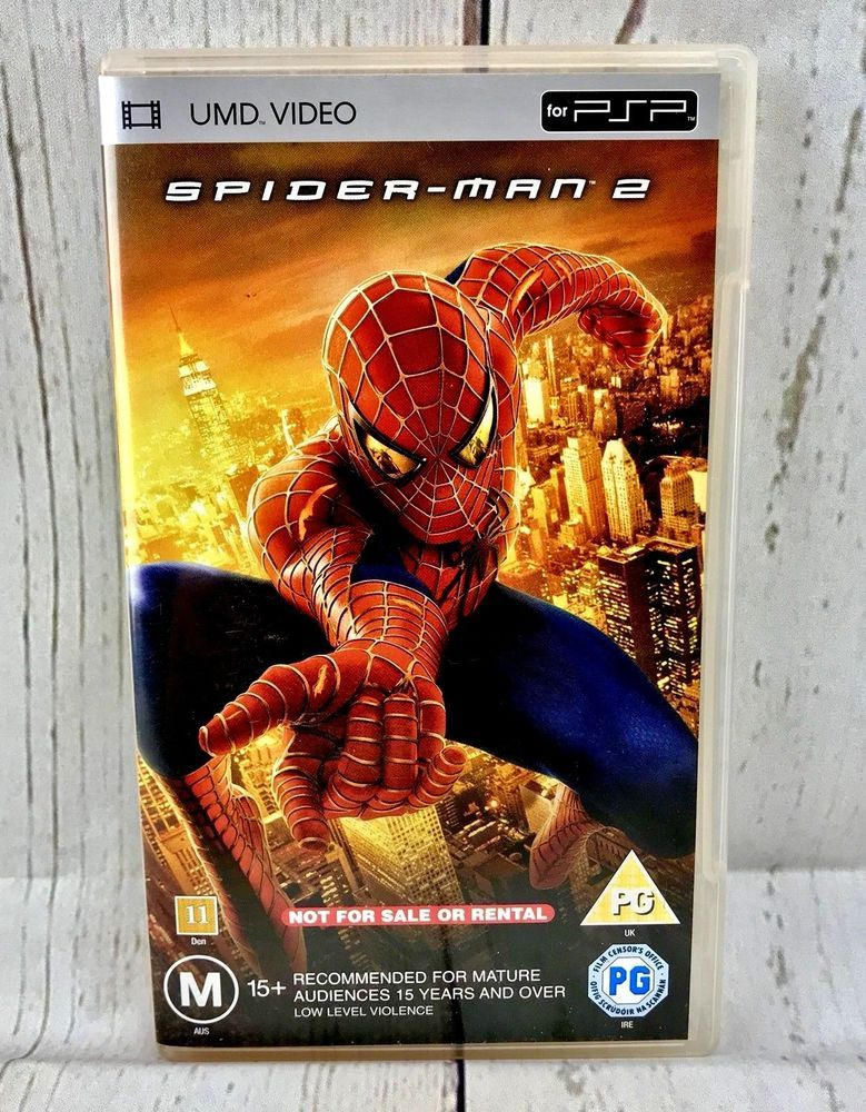 Spider Man 2 PSP Sony Video Games Umd Film Dvd Quality Perfect Very Good Disc