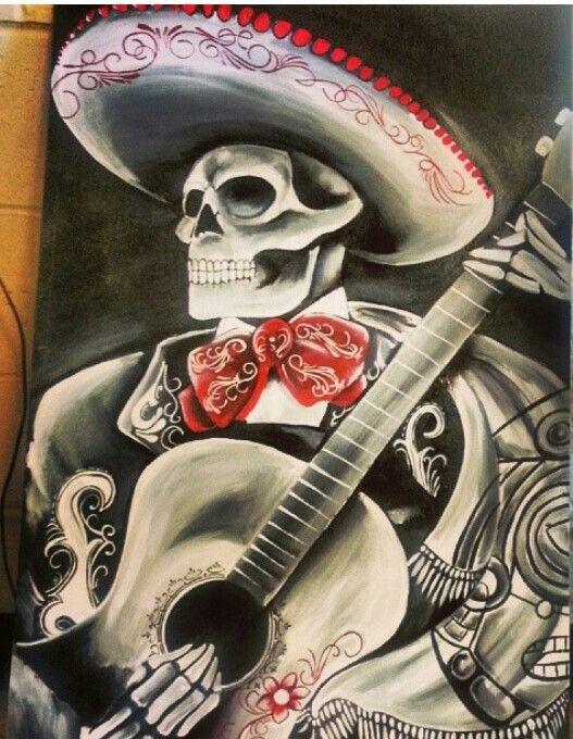 Mariachi Mexican Culture Art Mexican Folk Art Day Of The Dead Artwork