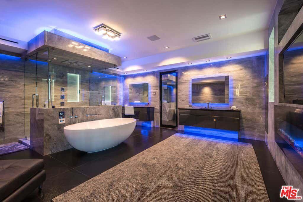 50 Sleek Modern Primary Bathroom Ideas Photos In 2020 Modern Master Bathroom Luxury Master Bathrooms Dream Bathrooms