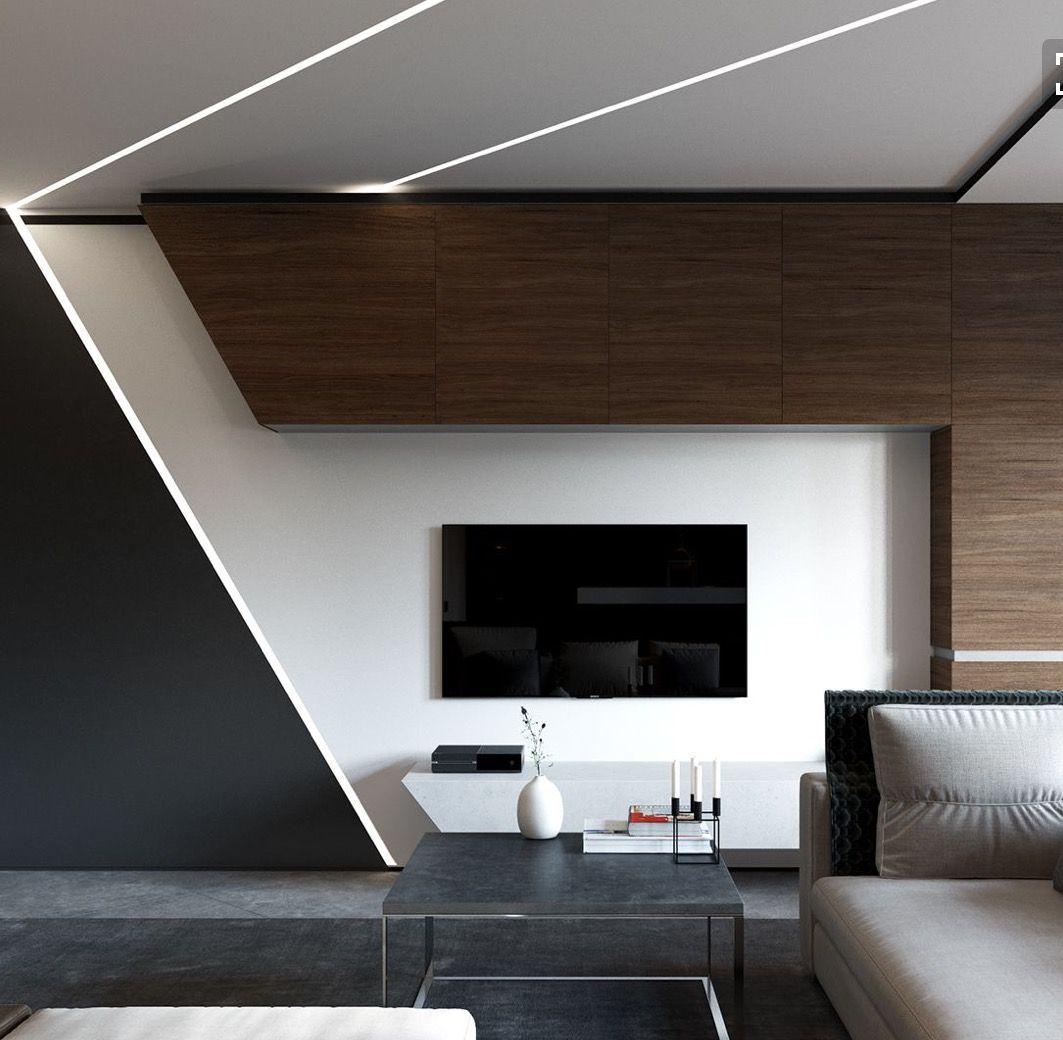 Meuble tv placo design amazing deco mur tv meuble tv en - Decoration mur placo ...