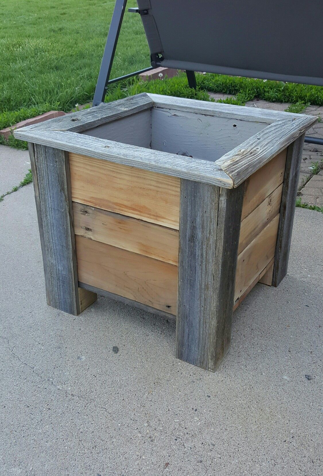 Reclaimed Wood Planter Outdoor Planter Boxes Wood Planters Wood Planter Box