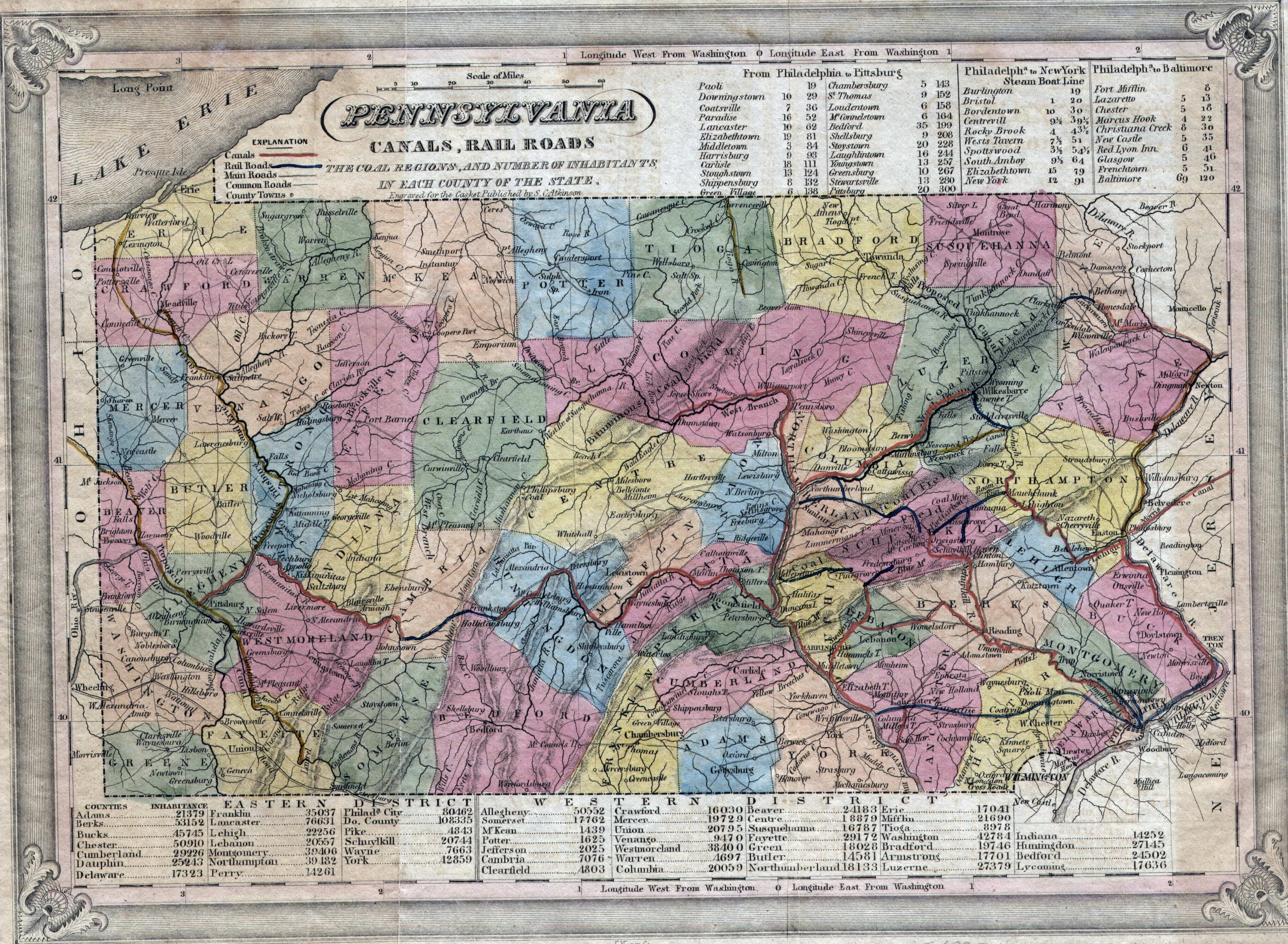 Image result for old pa county maps Pennsylvaniamy home State