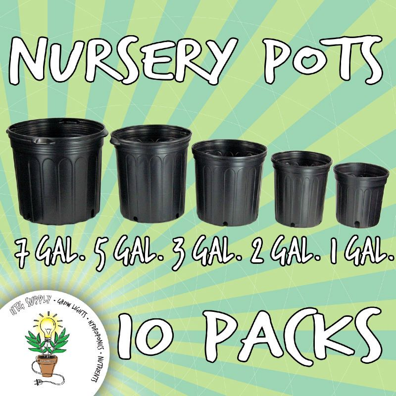 10 Nursery Pots 1 2 3 5 7 Gallon Grow Black Plastic Gal Ebay