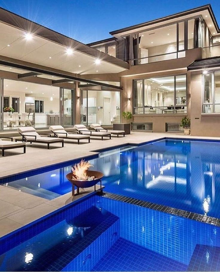 Blue Swimming Pool With Dream Luxury Mansion Pool Houses Luxury