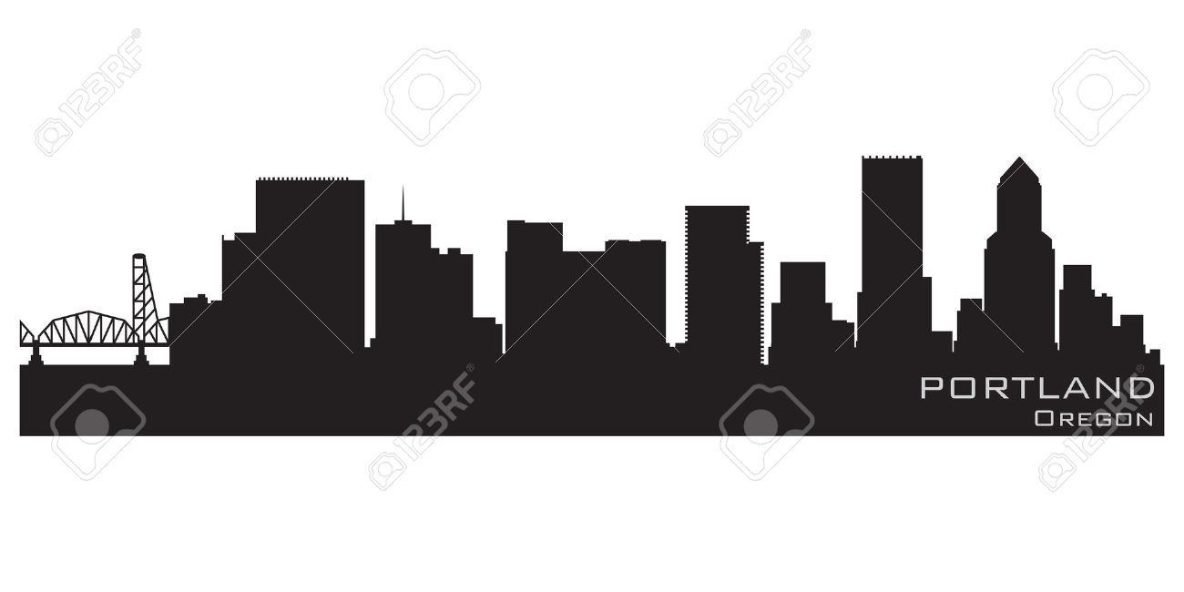 Portland, Oregon skyline Detailed silhouette | yatted | Pinterest ...