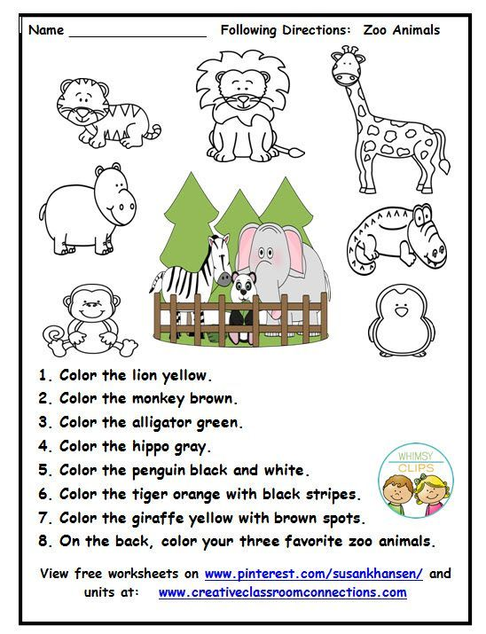 27++ Zoo vocabulary worksheets Images
