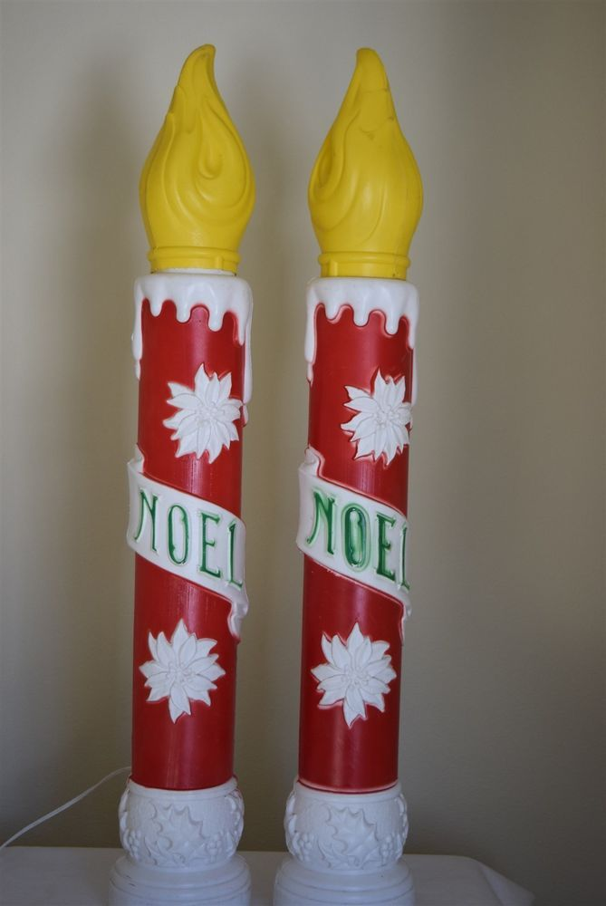 9f69d7711f069 Vintage 1973 Empire Christmas Noel Candles Blow Mold 39 - 2 Candles -Pretty  sure I need these since they have my name on them AND are from the year I  was ...