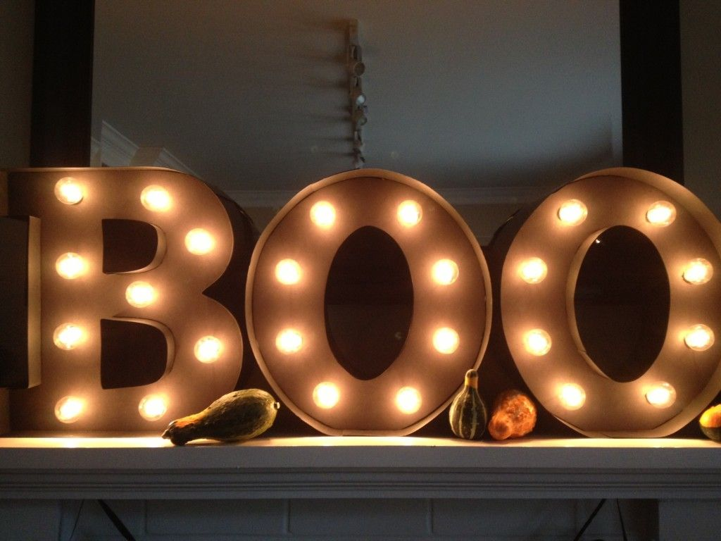 Diy Halloween Marquee Sign Match Made On Hudson Halloween Diy Halloween Marquee Letters Halloween Boo